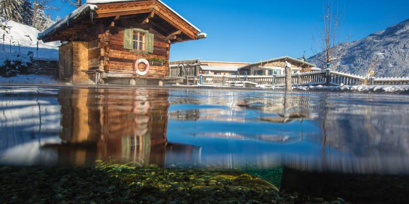 Teufelsauna im Alpin Family Resort Seetal im Winter